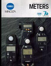 (( JAPANESE )) MINOLTA LIGHT METERS CATALOG/BROCHURE (ORIGINAL PRINT/not copies)