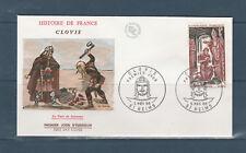 enveloppe 1er jour histoire de France Clovis  51 Reims  1966