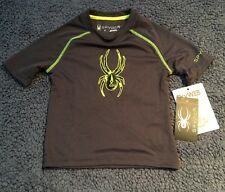 Spyder DryWeb Charcoal Childs Active Shirt Size Kyd's 4