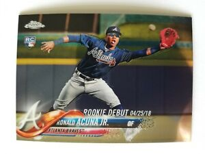 2018 Topps Chrome Update # HMT31 Ronald Acuna RC Rookie