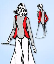 1970s Original Vintage Spadea Designer Pattern 73154 Uncut Easy Scalloped Blouse