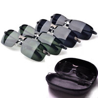 1x Men UV 400 Polarized Metal Frame Sunglasses Outdoor Aviator Sun Glasses+Case