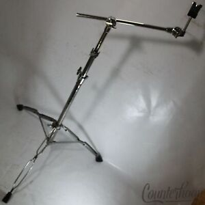 *Tama Boom Arm Cymbal Stand Vintage 80s Japan Double-Braced Tripod +Rogers Tube*