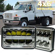 Pair 4x6'' LED Headlight Sealed Beam Projector For Chevrolet C8500 T6500 T7500