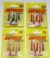 Northland Tackle Bro's Bloodworm Jigs & Trailers(Lot of 3-Blood/Nat/Black)