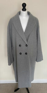 Dorothy Perkins Relaxed Fit Double Breasted Coat - Grey Size XL