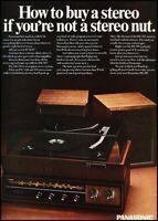 1967 Panasonic Stereo Speaker Vintage Advertisement Print Art Ad J659