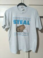 JOHNSTOWN STEAL Minor League Baseball Vintage 1990s Single Stitch T shirt XL
