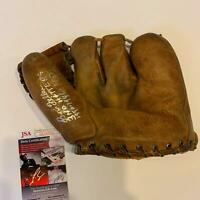 Bob Feller 3 No Hitters Signed Vintage 1940's Game Model Glove With JSA COA