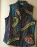 Unique Chico's  Vest Style Embroidered & Beaded Jean Jacket Made In India Size 0
