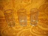 """Lot of 3 Heavy Bar Glasses by Libby, 6""""H"""