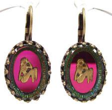 Ovaler Mode-Ohrschmuck aus gemischten Metallen mit Schnappverschluss