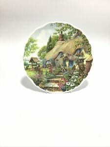 """Royal Albert Bone China 'Dream Cottages' SUMMER by Peter Riverford 1993 (8.5"""")"""
