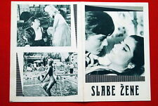 FAIBLES FEMMES MYLENE DEMONGEOT PASCALE PETIT ALAIN DELON 1959 YU MOVIE PROGRAM