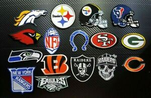 NFL SPORTS Helmet National FOOTBALL TEAM BADGE CAP Embroidered Iron Sew On Patch