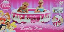 Disney Princess Inflatable Doodle Pool 48x13 Crayons included Ages 3+ New in box
