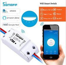 Domotica intettuttore WiFi sonoff comandato da smartphone APP e NEST orologio