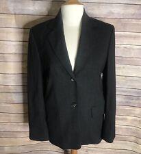 Celine Paris Blazer Sz 38 Dark Gray Long Sleeve Button Front Wool Blend Lined
