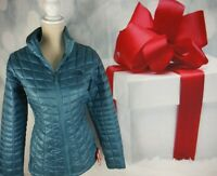 THE NORTH FACE $199 WOMEN'S THERMOBALL JAKET COAT STORM BLUE LIGHTWEIGHGT SIZE M