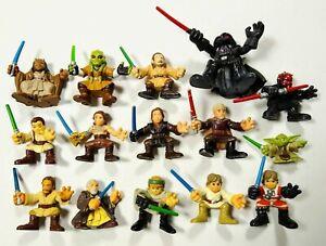 Lot of 15 Playskool Star Wars Galactic Heroes Jedi Knights and Bad Guys w/Sabers