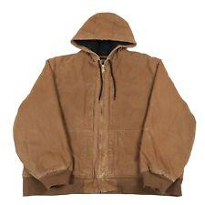 DICKIES Hooded Chore Jacket | XXL 2XL | Workwear Coat Hoodie Canvas Vintage