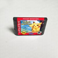 Pocket Monsters - 16 bit Game Card For Sega Genesis / Mega Drive System