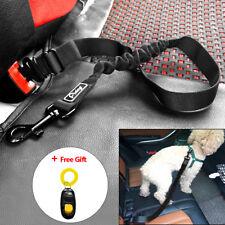 Safety Dog Car Seat Belt Harness Restraint Lead Clip Pet Bungee Leash Adjustable