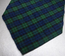 New BROOKS BROTHERS Navy Blue Green Cotton Madras Neck Tie  ~ NWOT