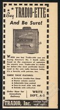 1948 Tradio-Ette coin-operated hotel radio photo Asbury Park New Jersey trade ad