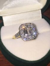 Handmade 18K Gold & Emerald Cut Diamond Ring. Total Diamonds' Weight: 0.80ct.