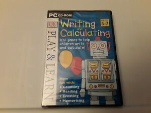 Play & Learn: Writing and Calculating (PC CD ROM, Ages 5-7) New Sealed Freepost