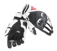 Dainese paia guanti pelle tessuto Mig C2 nero-bianco gloves 1815688-O45