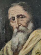 Il Profeta - Antico Dipinto Su Tela -  Primo 900