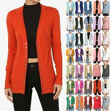 TheMogan PLUS Snap Button Front V-Neck Long Sleeve Lightweight Knit Cardigan