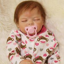 "Handmade Realistic Reborn Baby Doll Girl Newborn Lifelike Soft Vinyl Sleeping22"""