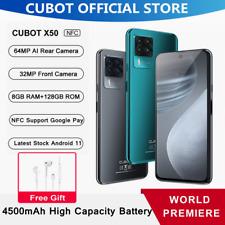 Cubot X50 Handy 8+128GB Smartphone 64MP NFC Dual Sim Android 11 Face ID 4500mAh