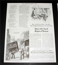 1924 OLD MAGAZINE PRINT AD, STORY & CLARK REPRO-PHRASO PLAYER PIANO, EASY PLAY!