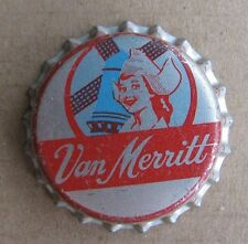 UNUSED NEW OLD STOCK VAN MERRITT CORK LINED BEER BOTTLE CAP
