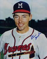 1960's BRAVES Dennis Menke signed photo 8x10 AUTO Autographed Milwaukee