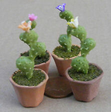 1:12 Single Clay Cactus & Pot Dolls House Miniature Flower Garden Accessory 3
