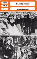 FICHE CINEMA : MADAME BOVARY - Jones,Mason,Heflin,Minnelli 1949
