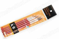 5 PCS HORSE BRISTLES/HAIR ROUND PAINTING BRUSHES - #0, 6, 8, 10, 12 - US SELLER
