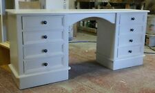 Painted Double Pedestal Dressing Table - Victorian style with plinth at base