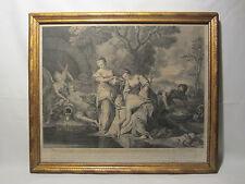 RARE GRAVURE XVIII éme THETIS ET ACHILLE MYTHOLOGIE E JEAURAT 1719 N VLEUGHELS