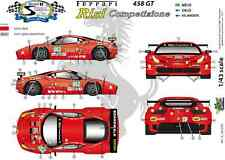 "[FFSMC Productions] Decals 1/43 Ferrari F-458GT ""Risi"" 12 Hours of Sebring 2011"