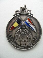 1910 Silver and enamel  Holland Belgium Men Waterpolo medal H.Heusers