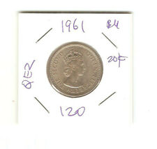 Malaya QEll 1961  20cents   coin  lustre/high grade! BU ??