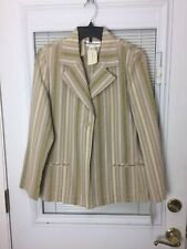 Norm Thompson Women's Multi-Color Striped Single Button Blazer Jacket Sz S $189