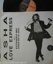 "ASHA ~ Love Express ~ 12"" Single PS"