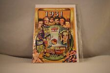 Flickback Greeting or Birthday Card With DVD  For Those Born in 1931    (v417)